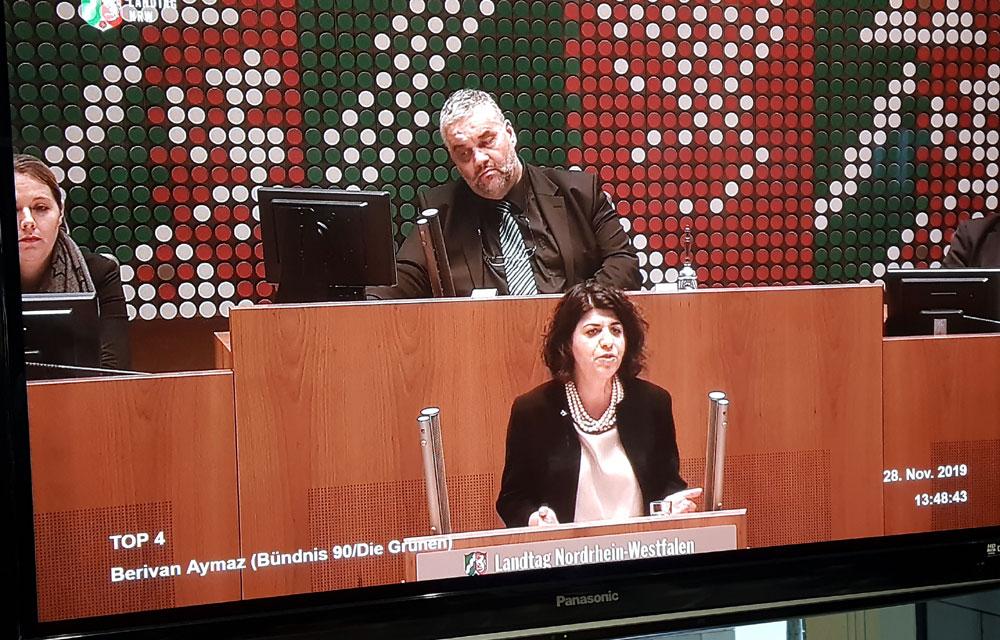 Berivan Aymaz, MdL NRW, spricht im Landtag