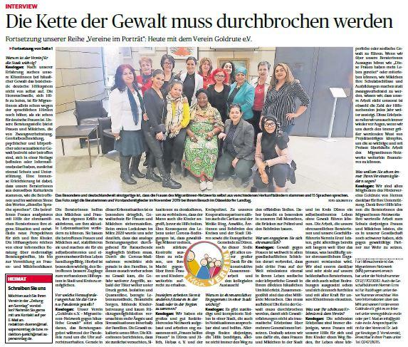 Interview Zeitung am Sonntag